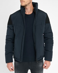 Ikks Navy Shoulder Inserts Waterproof Jacket