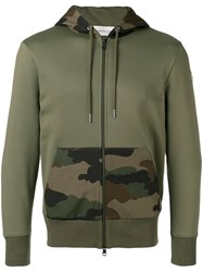 Moncler Camouflage Detail Hoodie Green