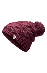 The North Face Triple Cable Beanie Purple Fig
