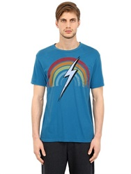 Lightning Bolt Rainbow Cotton Jersey