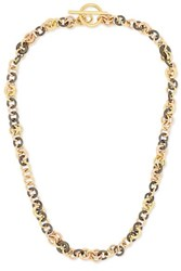 Spinelli Kilcollin Crux 18 Karat Yellow And Rose Gold And Rhodium Plated Sterling Silver Necklace