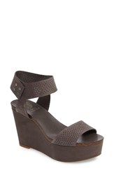 Vince Camuto Women's Valamie Platform Wedge Grey Nubuck Leather
