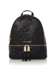 Michael Kors Rhea Zip Lace Back Pack Bag Black