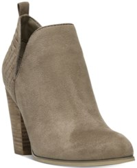 Carlos By Carlos Santana Rouen Cut Out Block Heel Booties Women's Shoes Chateau Grey