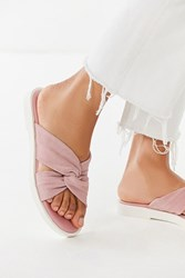 Urban Outfitters Uo Crossed Knotted Sandal Lavender