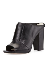 Pour La Victoire Eva High Heel Leather Mule Black