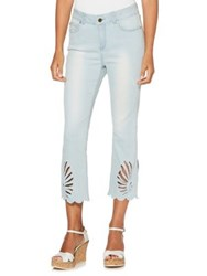 Rafaella Cut Out Capri Jeans Soft Wash