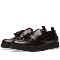 Fred Perry X George Cox Leather Tassel Loafer Burgundy