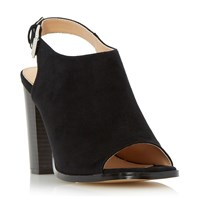 Head Over Heels Iona Peep Toe Block Heel Sandals Black