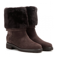 Loro Piana Abigail Suede Boots With Fur Brown