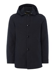 Scotch And Soda Men's Trench Coat In Bonded Quality Midnight Blue