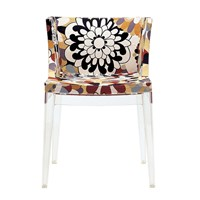 Kartell Mademoiselle 'A La Mode' Transparent Chair Vevey Burnt Tones