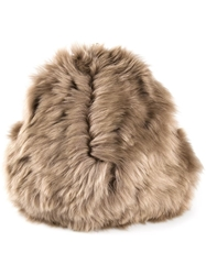 Simone Rocha Fuzzy Clutch Brown