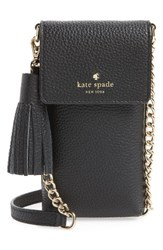 Kate Spade New York North South Leather Smartphone Crossbody Bag Black
