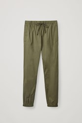 Cos Relaxed Elasticated Pants Green