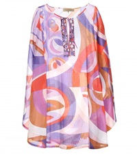 Emilio Pucci Beach Printed Cotton Tunic Multicoloured