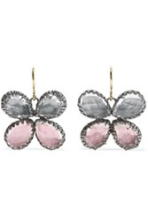 Larkspur And Hawk Sadie Butterfly Rhodium Dipped Quartz Earrings Gold