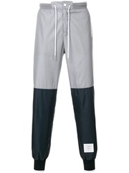 Thom Browne Bicolor Half And Half Ripstop Sweatpants Grey