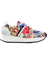 Carven Japanese Flower Print Sneakers