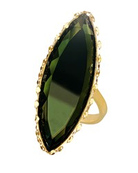 Lana 14K Midnight Marquise Ring Dark Green Size 8
