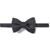 Tom Ford Pre Tied Polka Dot Basketweave Bow Tie Midnight Blue