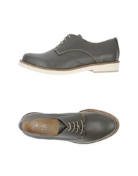 Rose Lace Up Shoes Grey