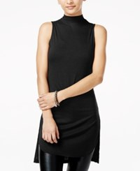 Material Girl Juniors' Mock Turtleneck Sleeveless Knit Top Only At Macy's Caviar Black