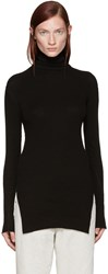 Helmut Lang Black Fitted Turtleneck