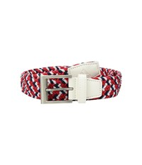 Adidas Golf Braided Weave Stretch Usa Belt White Belts