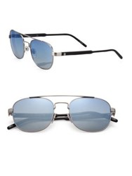 Montblanc 55Mm Aviator Sunglasses Havana
