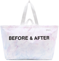 Off White Ssense Exclusive Blue And Purple Tie Dye Tote