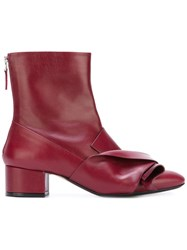 N 21 No21 Bow Detail Boots Red