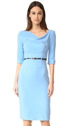 Black Halo 3 4 Sleeve Jackie O Dress Twinkle Blue