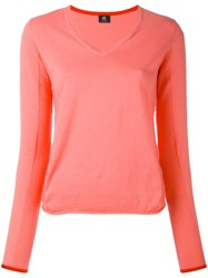 Paul Smith Ps By V Neck Jumper Women Cotton S Pink Purple