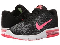 Nike Air Max Sequent 2 Black Racer Pink Anthracite Cool Grey Women's Running Shoes Black Racer Pink Anthracite Cool Grey