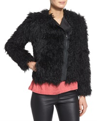 Zadig And Voltaire Vianna Faux Fur Zip Jacket Noir