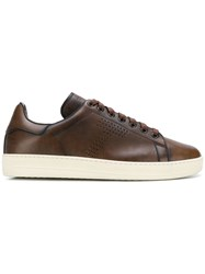 Tom Ford Perforated T Sneakers Brown