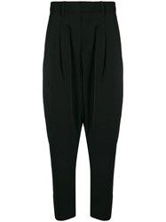 Attachment Drop Crotch Trousers Black