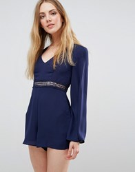 Wyldr Hope So Playsuit With Waist Insert Blue