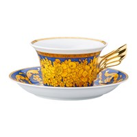 Versace 25Th Anniversary Floralia Blue Teacup And Saucer Limited Edition