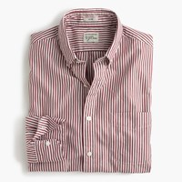 J.Crew Slim Secret Wash Shirt In Red Stripe Aztec Brick