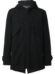 By Walid Hooded Zipped Jacket Black