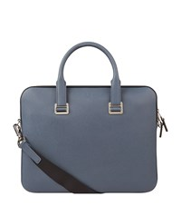 Dunhill Strap Front Briefcase Unisex Blue