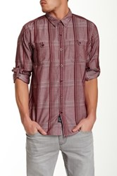 7 For All Mankind Printed Slim Fit Shirt Red
