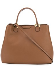 Emporio Armani Beverly Large Tote Brown