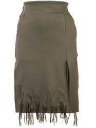 Haculla Dying To Live Fringed Skirt Green