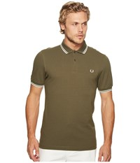 Fred Perry Twin Tipped Shirt Iris Leaf Snow Ecru Men's Short Sleeve Knit Yellow