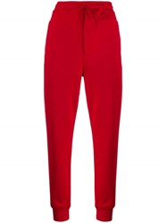 Y 3 Drawstring Track Trousers Red