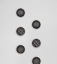 Reclaimed Vintage Inspired Circle Stud Earring In Silver Exclusive To Asos