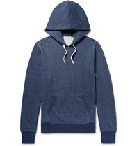 Alex Mill Fleece Back Cotton Blend Jersey Hoodie Navy
